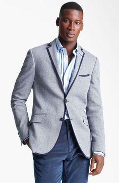 Etro Herringbone Cotton Blazer available at #Nordstrom
