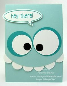handmade greeting card: Monster Punch Art inspired by pinterest, Stampin' Up! www.stampwithannette.com