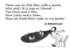 Weird & Wonderful Wednesday: Spotted on TheBeardMag's Twitter account. I simply had to share.   #EdwardLear
