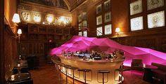 Gilt bar at The New York Palace Hotel