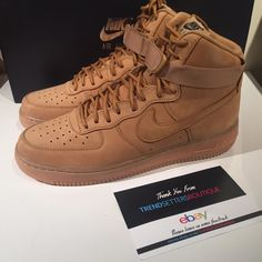 low cost f11dd 01bd2 Details about Nike Air Force 1 LV8 WB FLAX X Wheat Brown X  FOR KINGS  LOW 7  8 9 10 11 .5