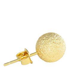 Brinco de bolinha média dourado >> Veja este e outros brincos em >> http://lojamulher.com/bijuterias/brinco/