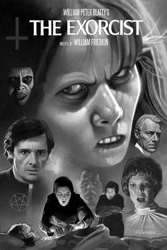 The Exorcist Art Print by Dave Robinson - X-Small Best Horror Movies, Classic Horror Movies, Horror Show, Horror Movie Posters, Movie Poster Art, Horror Art, Good Movies, Film Posters, Exorcist Movie