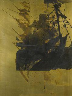 Robert Rauschenberg - Shadow Box (Borealis), 1989. Acrylic and tarnishes on brass