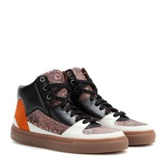 Dries Van Noten - Leather and suede high-top sneakers - mytheresa.com GmbH
