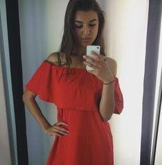 Is that #summer over there? #fridayfeeling #reddress #selfie by agnru