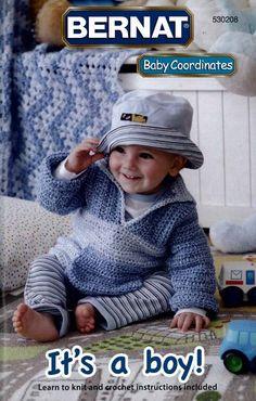NM160032 It's A Boy!- http://www.maggiescrochet.com/its-a-boy-p-2173.html#.UVnESFeNpZ0 #crochet #pattern #pattern #knit #crochet #afghan #clothes