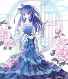 anime girl blue hair - Tìm với Google