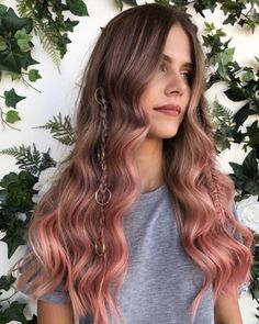 Pinky-peach ombre by Circles of Hair