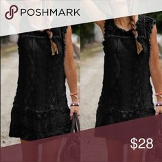 "Little Black Dress Little Black Dress. Dress is shear so will have to wear a slip. Medium: 34"" bust 31"" length , Large : 36"" bust 33"" length, XL: 38"" bust 31"" length. Super cute with leggings also. I'm wearing the medium. Runs small Boutique Dresses Mini"