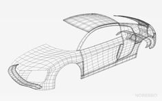 Audi R8 wireframe I'm currently building