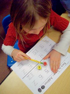 """Race to Trace Addition - the kids roll 2 dice, add them up, then record the sum on their sheet. If you want kids to work on """"counting on"""" use 1 numeral die and 1 dot die. Have them say the numeral first and then add on the dots."""