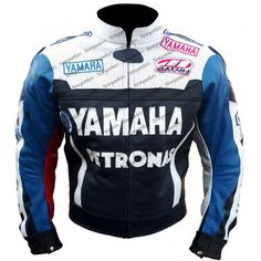 Yamaha Petronas Leather Motorcycle Armour Jacket For Men's : All Size available  #SweetPeace #Motorcycle