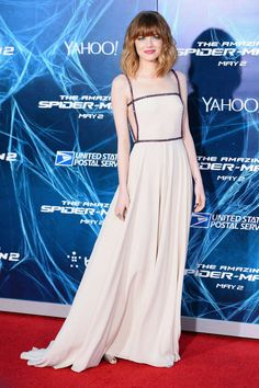See Emma Stone's best looks as she travels the world for the premiere of Spiderman.