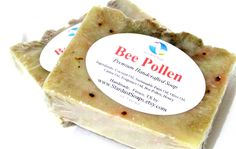 Bee Pollen Bar Soap (Lots of lather, moisturizing, vitamins, minerals, skincare, gift soap) Stardust soaps by StardustSoaps on Etsy