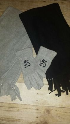 Monogrammed gloves by Kay Kreations Embroidery Designs on Etsy
