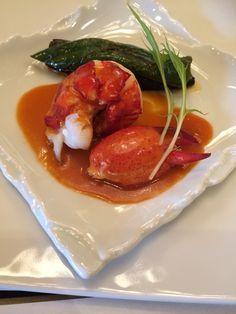 魚料理:オマール海老と野菜のロースト 都アメリカンソース