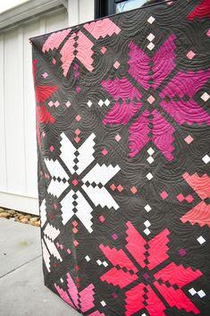 Christmas Quilt Patterns, Star Quilt Patterns, Modern Quilt Patterns, Star Quilts, Pink Quilts, Colorful Quilts, Girls Quilts, Fat Quarter Quilt, Winter Quilts