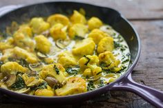 Coconut Curried Cauliflower with Kale | Autoimmune Paleo I want to make this for dinner this week! GAPS Friendly and AIP Friendly.