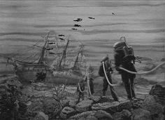 reborn-in-the-sea:  Vynález zkázy (The Fabulous World of Jules Verne) Directed by Karel Zeman