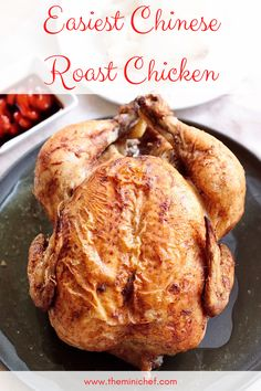 This Chinese Roast Chicken recipe is so easy to make and only requires 5 ingredients! Chinese five-spice powder adds such a unique flavor, and you'll learn all the tricks for perfectly roasting a chicken! #chicken #roastchicken #chinese #easyrecipes #recipe #roast Easy Asian Recipes, Easy Delicious Recipes, Side Dish Recipes, Easy Dinner Recipes, Indian Food Recipes, Easy Meals, Amazing Recipes, Roast Chicken Recipes, Chicken Flavors