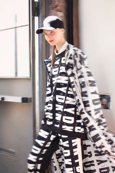 NYFW Backstage: DKNY graphic first looks so 90's