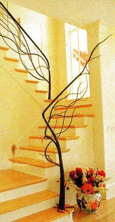 Antler inspired staircase railing