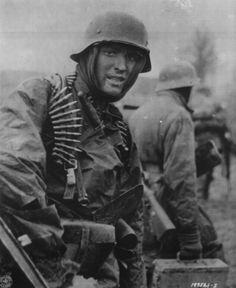 German soldier in Belgium   World War II Photography