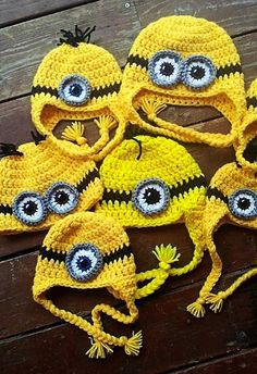 Crochet Minion Hat Perfect for Halloween Choose. Halloween crochet  #halloween #crochet ww.loveitsomuch.com