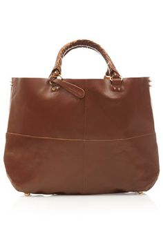 9cd151b084 Clean Leather Tote by Topshop Tan Bag