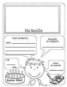 All about me (Tout au sujet de MOI!) - FRENCH: