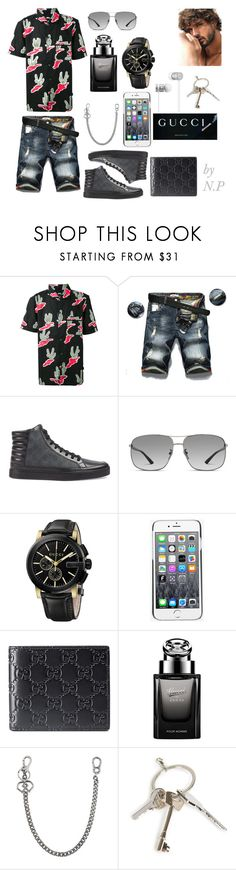 """Gucci man"" by nicks-1 on Polyvore featuring moda, Stussy, Gucci, Kenzo, Dsquared2, Givenchy, Beats by Dr. Dre e NicolePorcelli"