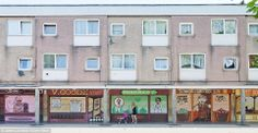 Artists revive the Disappearing Storefronts of a Rundown Council Estate