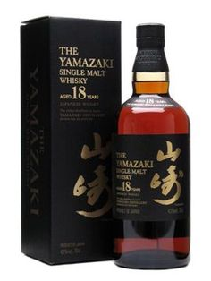 "The Yamazaki 18 Year Old Single Malt Japanese Whisky. Aged for 18 years, this has earned 5 Double Gold Medals at the San Francisco World Spirits Competition and thrice been named ""Best Other Whisky. Cigars And Whiskey, Scotch Whiskey, Whiskey Bottle, Bourbon Whiskey, Bourbon Drinks, Whiskey Cocktails, Wine And Liquor, Liquor Bottles, Tequila"