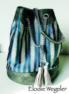 4d321202a6 Download Erinna Bag - written tutorial with photos immediately at Makerist  Sac Bleu Marine, Sac