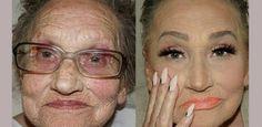 Makijażystka maluje swoją 80-letnią babcię Glam Ma