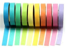 LEORX Decorative Washi Tape Rainbow Washi Paper Decorative Masking Adhesive Tape for DIY Scrapbooking - 10 Pack -- More info could be found at the image url.