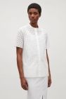 COS image 2 of Cut-out cotton shirt in White