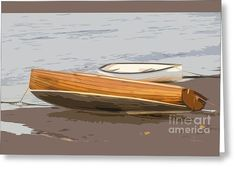 Wooden Dinghy  Greeting Card by Sebastien Coell