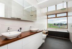Mullalyup House   FINESPUN Double Vanity, House Ideas, New Homes, House Design, Bathroom, Washroom, Full Bath, Bath, Architecture Design