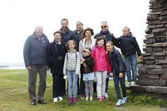 MyRoyals:  Norwegian Royal Family visited Vardøhus Fort, Vardø, August 2015-front-King Harald, Queen Sonja, Leah, Emma and Maud Behn and Princess Ingrid Alexandra; back-Crown Prince Haakon, Crown Princess Mette-Marit, Princess Märtha Louise, Ari Behn, Prince Sverre Magnus