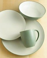 Noritake Green Round Placesetting- our dish set. We will be able to use them someday :)
