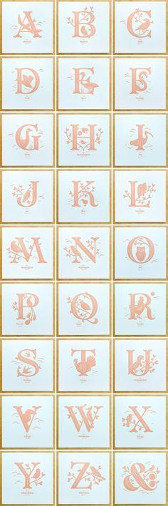 Jessica Hische — Alphabirds Letter Prints