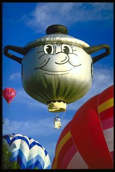"Dutch Oven hot air balloon - photo from pix.com.ua     ...pix.com.ua titled this ""Funny robot head in the form of balloon""...???"