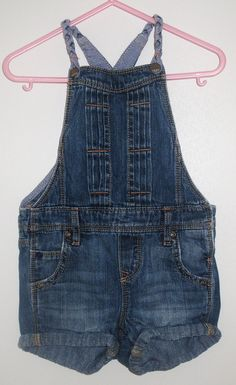 - Gap denim shorts overalls with braided straps - size 12-18 months - 100 % cotton - 12 NIS www.clothingcloset.co.il