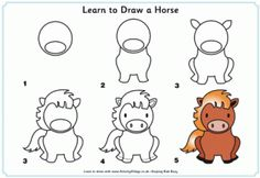 How to Draw Animals: Several step by step instructions