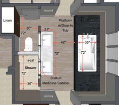 Best 12 Bathroom Layout Design Ideas Bathroom floor plans Master