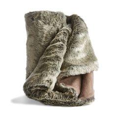 Reindeer Faux Fur Throw   Kmart