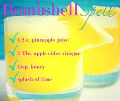 Bombshell spell recipe from tone it up. Boosts metabolism and gives you energy!
