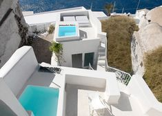 Island retreat featuring rooftop and underground pools.